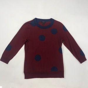 J. Crew Polka Dot Crew Sweater